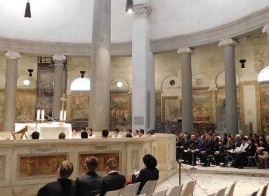 Szentmise a római Szent István körtemplomban Mindszenty bíboros emlékére