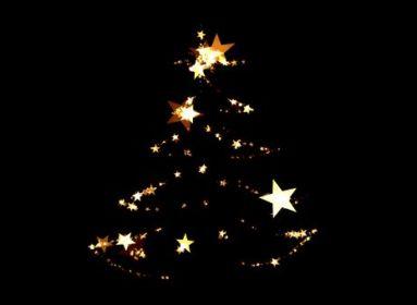 sötét karácsonyfa