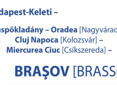 Végre: jönnek a magyar településnevek a határon túlra közlekedő vonatokon