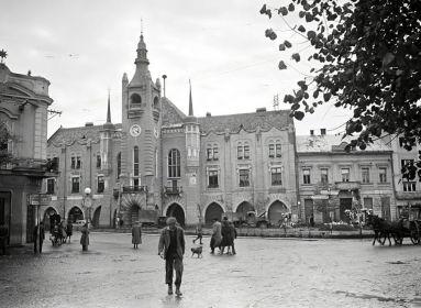Munkács, Horthy Miklós tér 1944-ben (Forrás Fortepan: 175319)