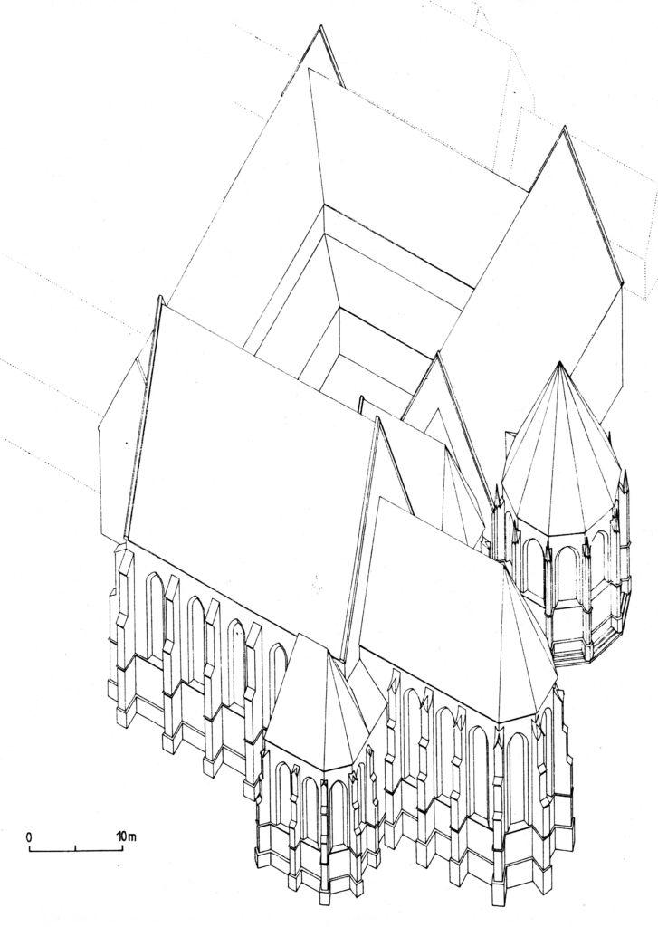 A kolostor rekonstrukciója a 16 század 2.évtizedlben (Szekér György rajza)