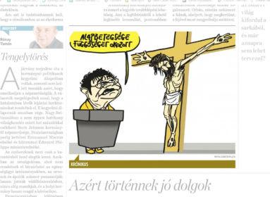 Pápai vallásgyalázó karikatúráját díjazta a MÚOSZ - ez a független-objektív gátlástalanság