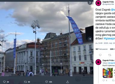 Életvédő zászlók kerültek a Pride-osok helyére Zágrábban