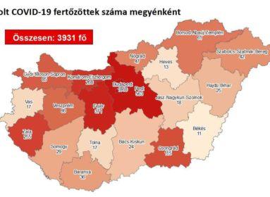 Koronavírus – elhunyt 2 beteg és 3931-re emelkedett a fertőzöttek száma Magyarországon