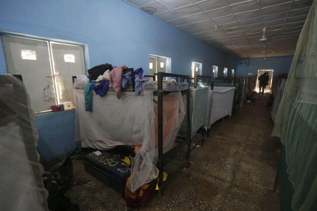 Üresen maradt iskolai szállás Nigériában.