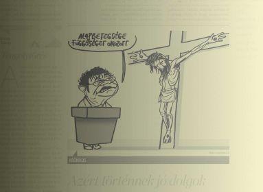 Az ügyben eljáró bírónő szerint kifejezetten jópofa a Népszava kereszténygyalázó karikatúrája