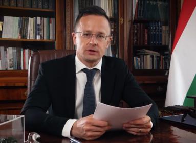 Koalíció Száhelért - II. külügyi videókonferencia. Szijjártó Péter