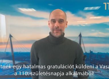 Guardiola videóüzenete