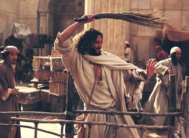 Jézus megtisztítja a templomot.