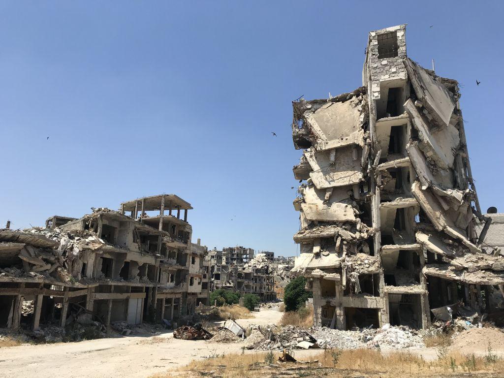 homsz szíria kereszténynegyed romok