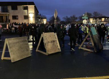 Erőszakos tüntetők Minnesotában.