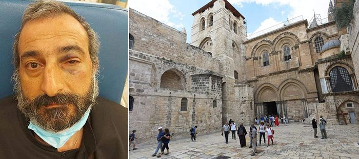 Örmény pap Jeruzsálem támadás