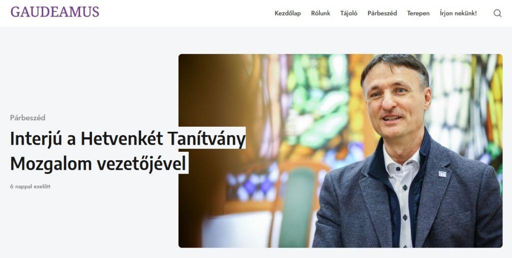 Gaudeamus keresztény pedagógiai honlap