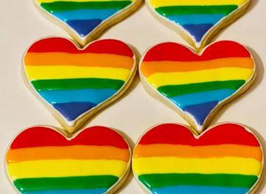 Szivárványos sütemények Pride