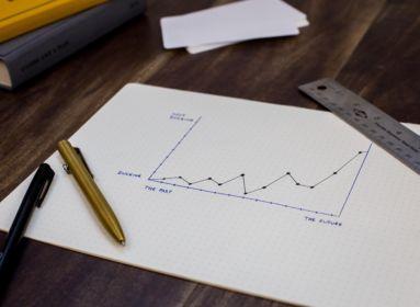 növekedés, grafikon, gazdaság
