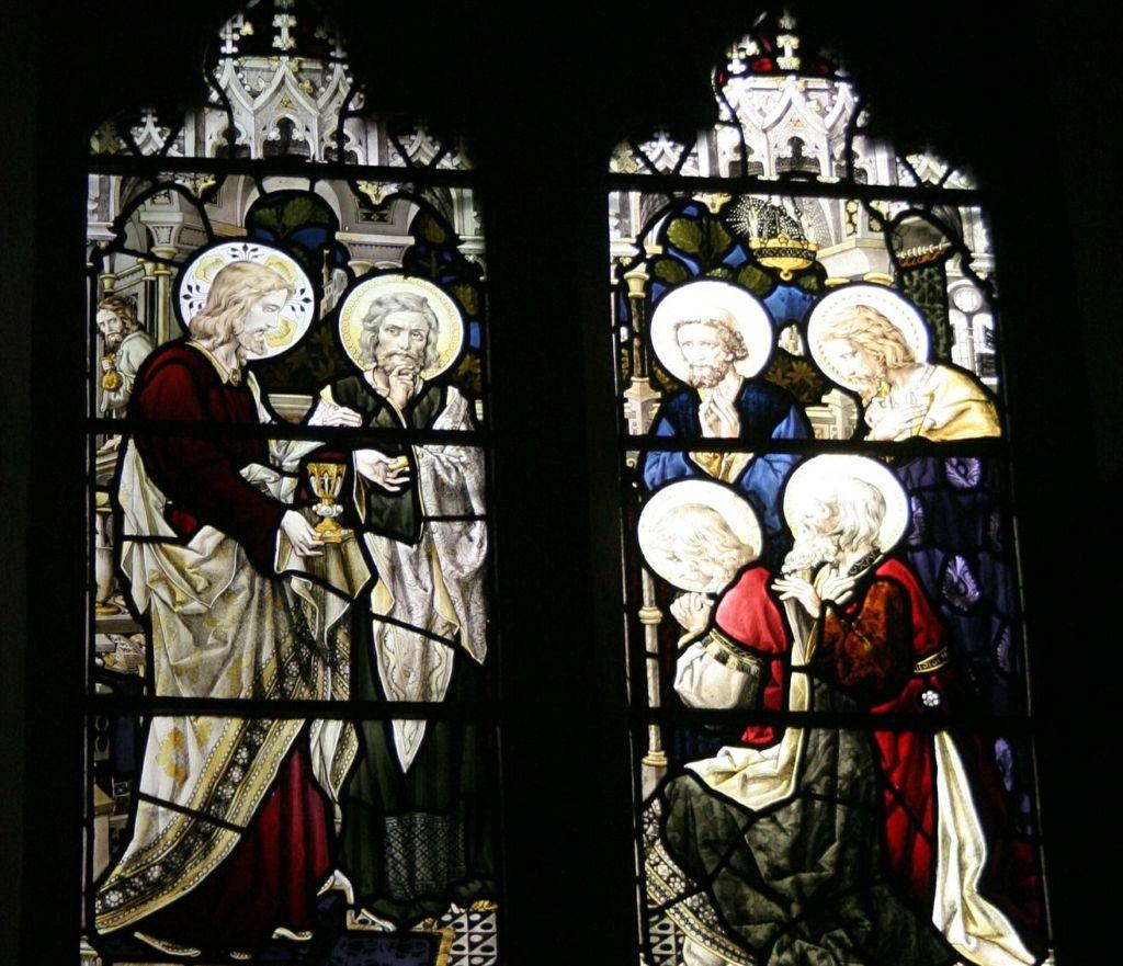Szent Mihály templom ólómüveg ablak
