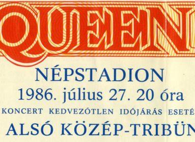Belépőjegy a Queen 1986-os budapesti koncertjére