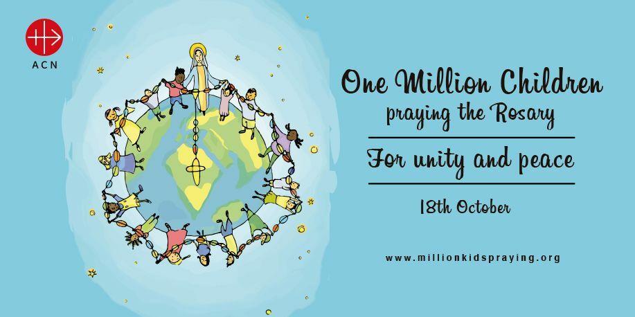 egymillió gyerek imádkozza a rózsafüzért ACN kezdeményezés október 18 Forrás: Twitter